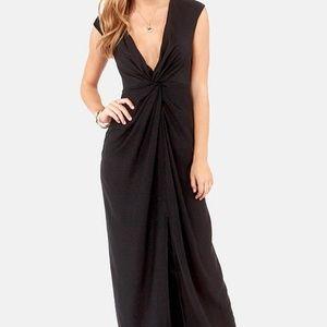 KEEPSAKE SURRENDER BLACK MAXI DRESS